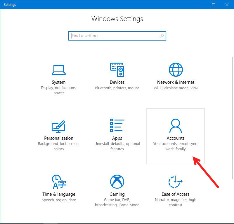 how to add another account to windows 10