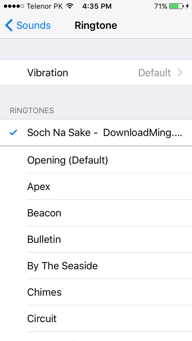Set a Custom Ringtone