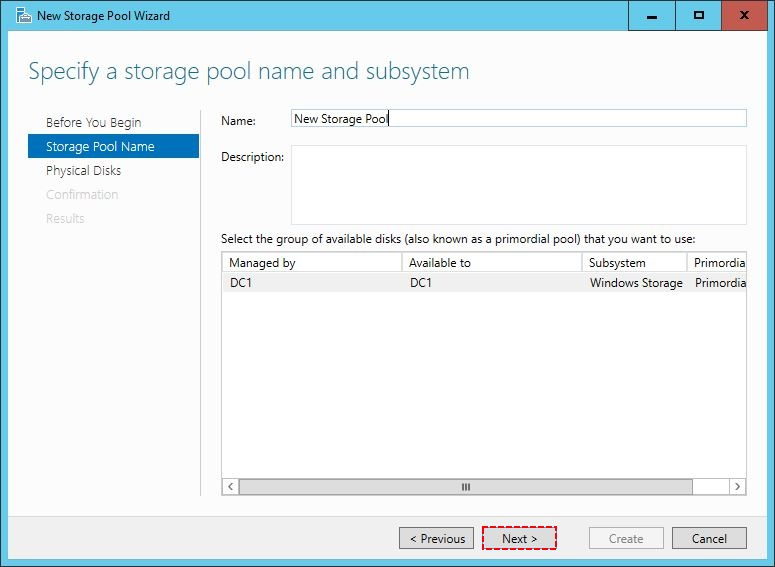 Storage Pool name