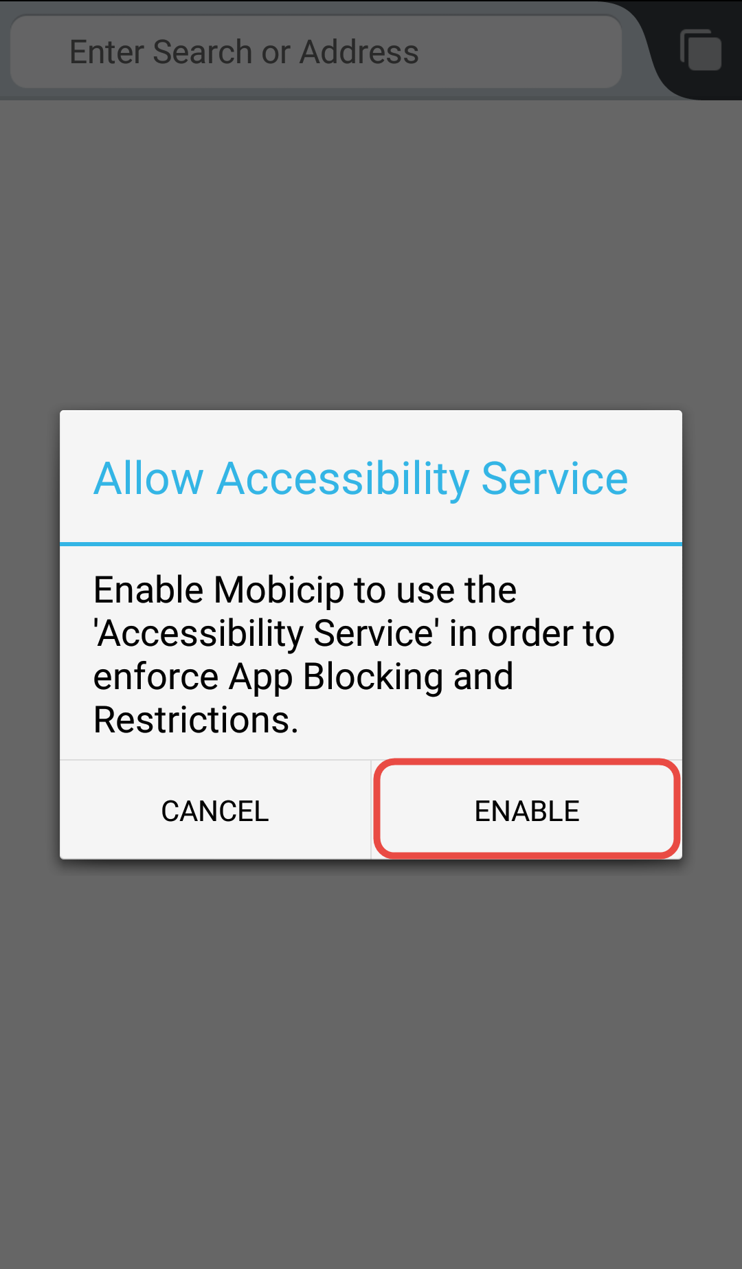 Allow accessibilty Service