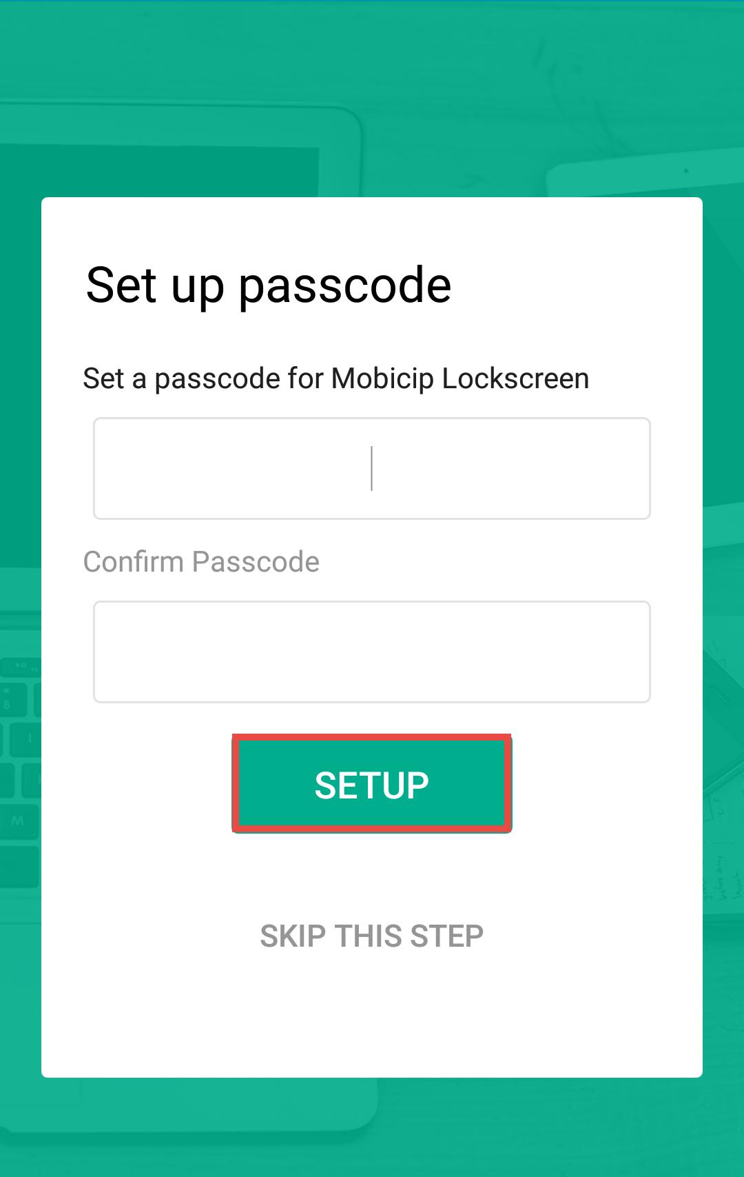 Mobicip LockScreen
