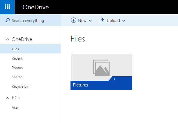 Backup Windows 10 with OneDrive