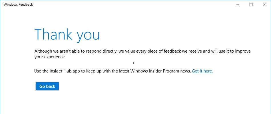 Send Feedback to Microsoft