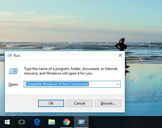 Complete Windows 10 Run Commands