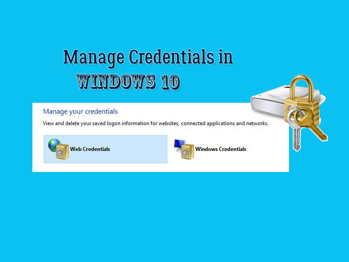 Manage Credentials in Windows 10
