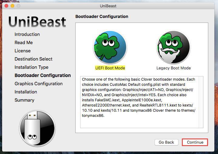 Unibeast -Bootloader
