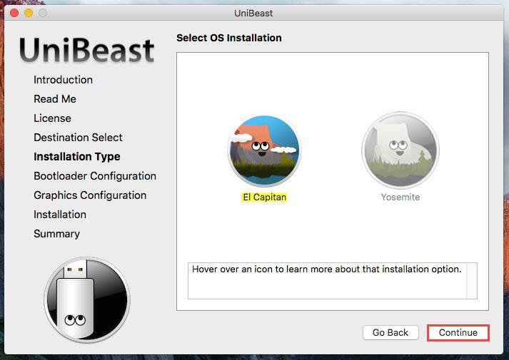 Unibeast -Installation