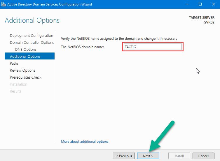 NetBIOS domain name