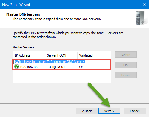 DNS Master Servers