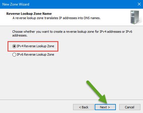 IPv4 Reverse Lookup Zone