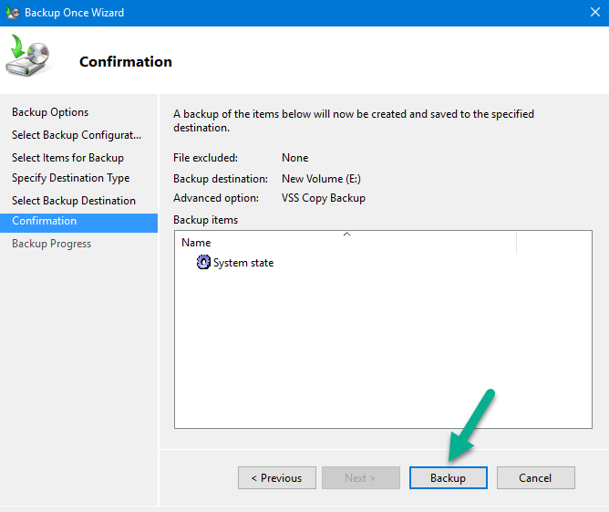Backup Active Directory Fully on Windows Server 2016