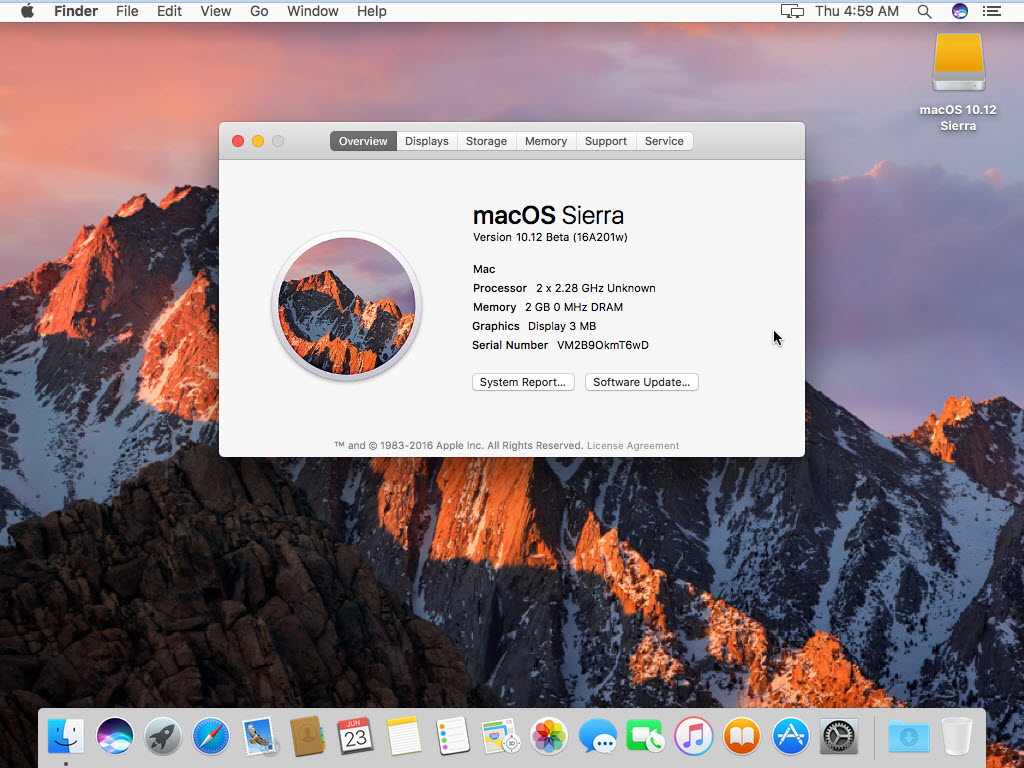 Install macOS Sierra on VMware