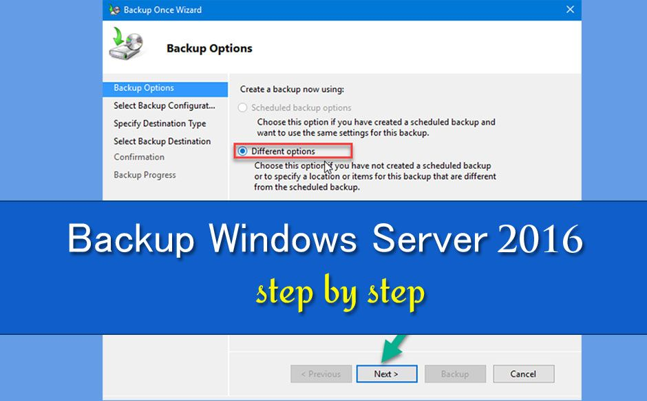 Backup-Windows-Server 2016 Step by Step