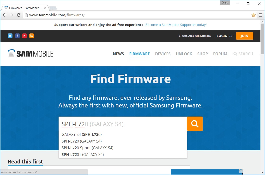 Sammobile - Download Your Mobile Firmware