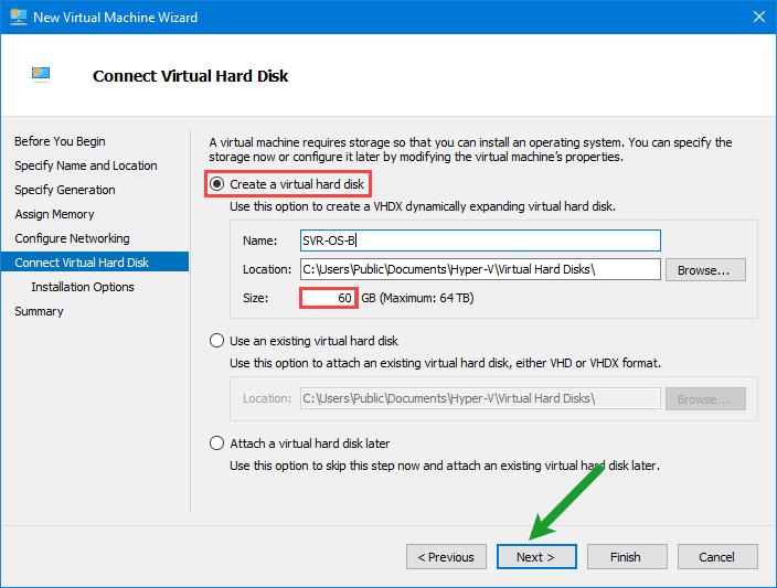 Connect Virtual Hard Disk