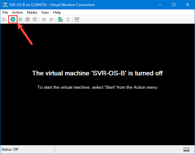Turn on Virtual Machine