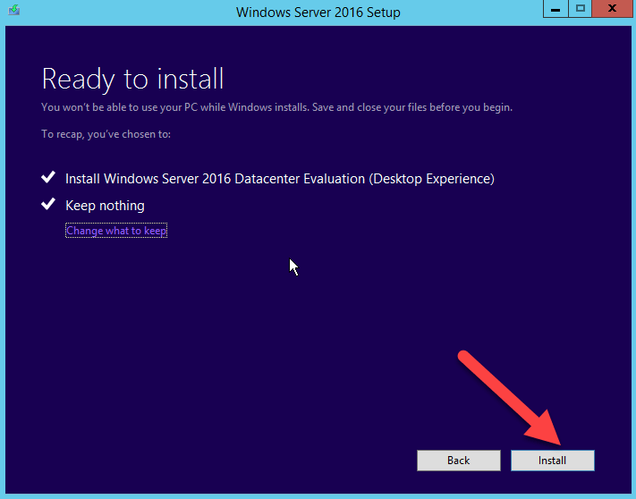 Install Windows Server