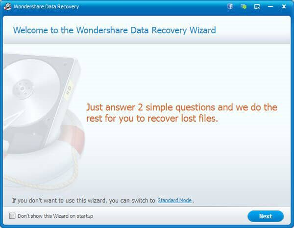 WonderShare Data-Recovery Wizard