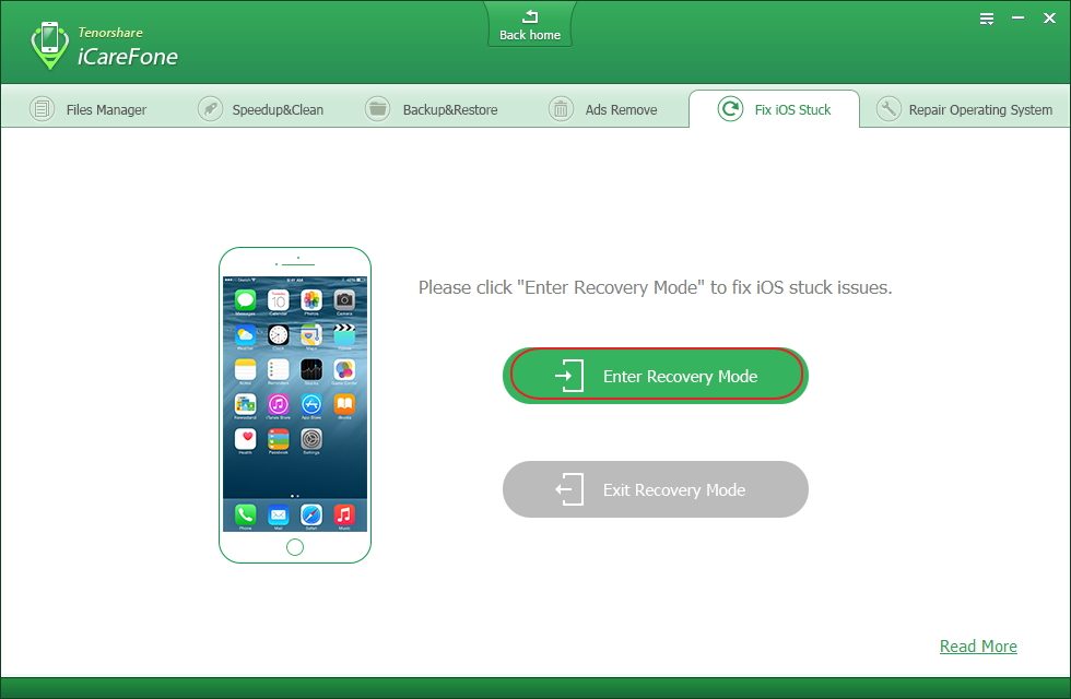 how to get recovery mode on iphone
