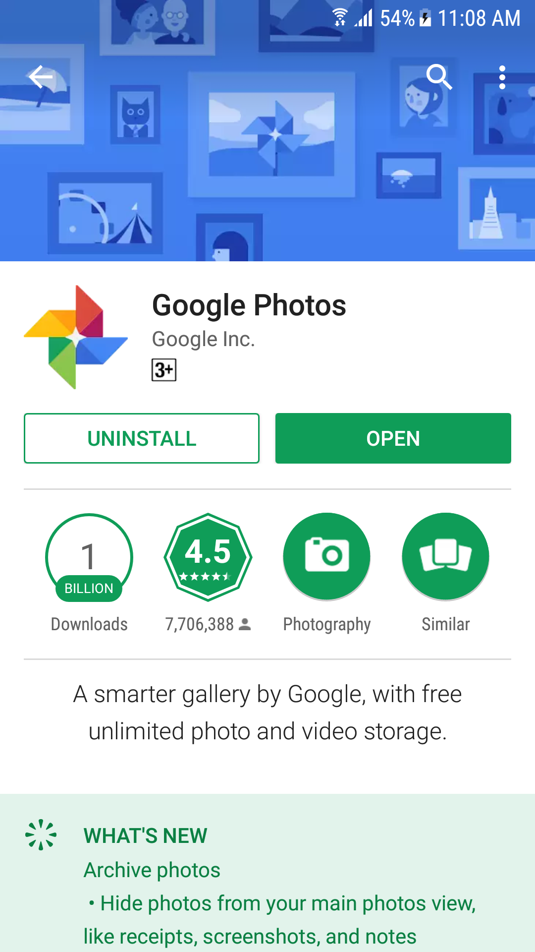 Google Photos on Play Store