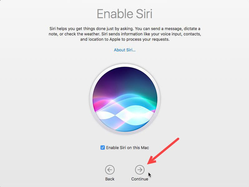 Enable Siri