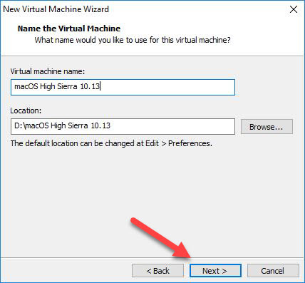 Name Virtual Machine