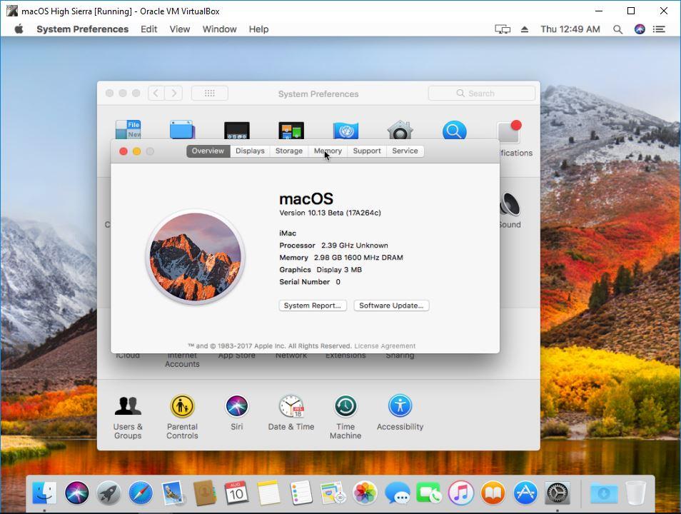 How to install macos high sierra 1013 on virtualbox tactig macos high sierra installed ccuart Images