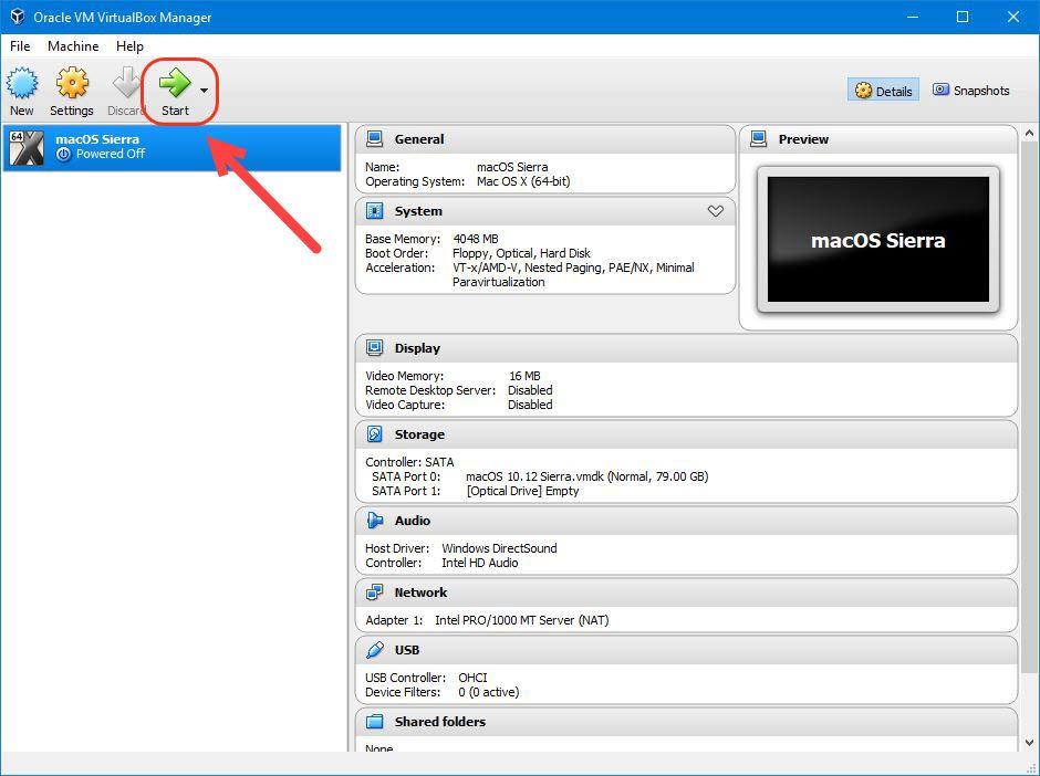 macOS Sierra 10.13 VM